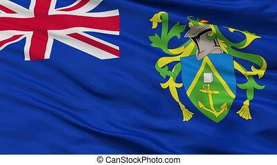 Pitcairn Islands Flag Closeup Seamless Loop - The Pitcairn...