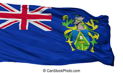 Pitcairn Islands Flag Isolated Seamless Loop - The Pitcairn...