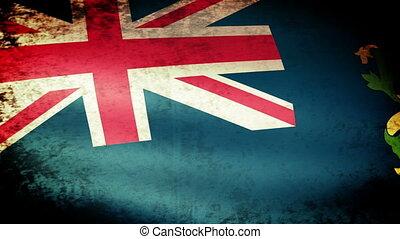 Pitcairn Islands Flag Waving