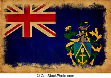 Pitcairn Islands grunge flag