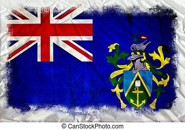 Pitcairn Islands grunge flag