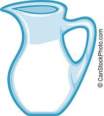 pitcher), κανάτα , (milk, κανάτα , γάλα