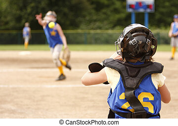 Pitcher and catcher