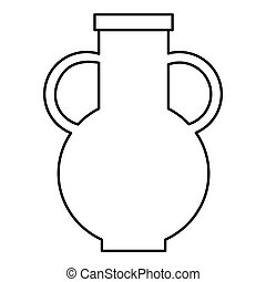 Pitcher icon, outline style