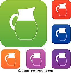 Pitcher of milk set collection