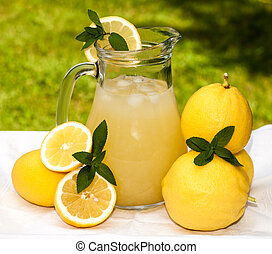 Pitcher With Lemonade