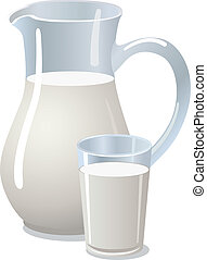 pitcher with milk