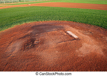 Pitchers Mound - A shot of a baseball field from right...