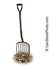 Pitchfork - a pitchfork in some leaves