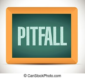 pitfall board sign illustration