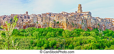 Pitigliano - city on the clif in Italy