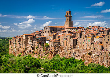 Pitigliano city on the cliff, Italy
