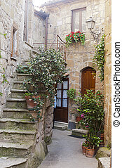 Pitigliano (Grosseto, Tuscany, Italy), old typical house