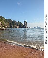 pitoresco, pedras praia