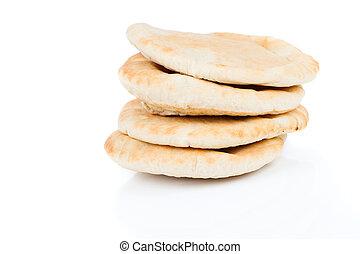 pitta, pão, (lebanese, bread)