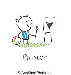 pittore, artista