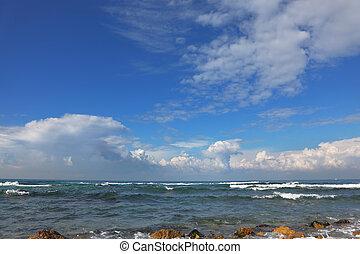pittoresco, mare mediterraneo, costa