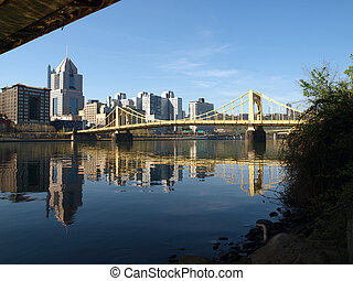 Pittsburgh Bridges and the Ohio River