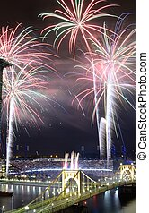 PIttsburgh Fireworks - PITTSBURGH - AUGUST 11: Fireworks...
