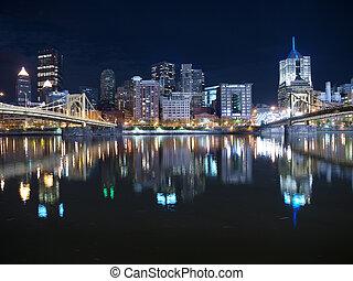 Pittsburgh Night Sky