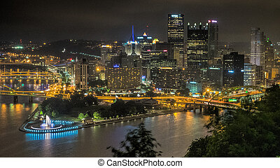 pittsburgh, nuit