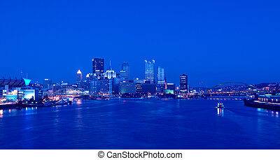 pittsburgh, orizzonte, notte