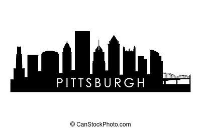 Pittsburgh Pennsylvania skyline silhouette.
