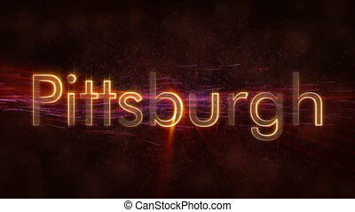 Pittsburgh - Shiny looping city name text animation -...