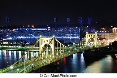 Pittsburgh Skyline - PITTSBURGH - AUGUST 11: Roberto...
