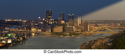 Pittsburgh Skyline sunset twilight