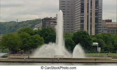 PittsburghPointStateParkFountain - LS of the fountain at the...