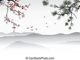 pittura, cinese
