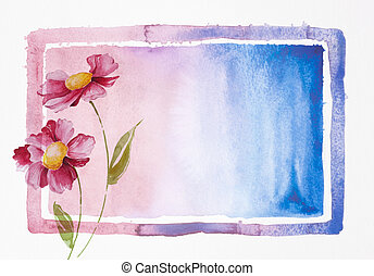 pittura, di, fiori