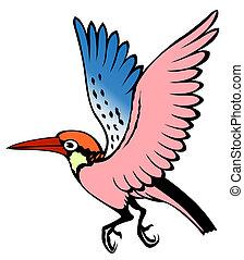 pittura, di, uno, uccello