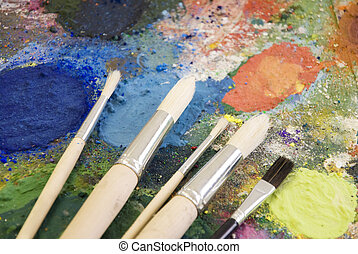 pittura, tavolozza
