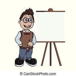 pittura, tela, artista