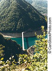 Piva reservoir in Montenegro