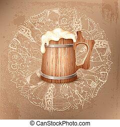 pivo, grafické pozadí