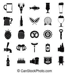 pivo, ikona, dát, jednoduchý, móda