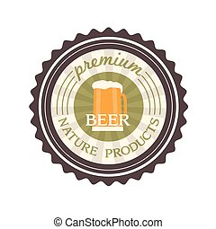 piwo, wektor, projektować, etykieta