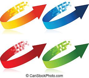 Pixel Arrow Symbols
