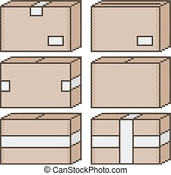 Pixel art box for design
