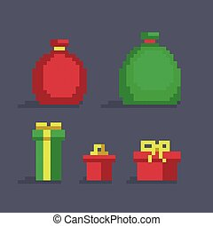 Pixel art christmas gifts - Pixel art christmas bags and ...