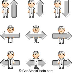Pixel art collection arrows