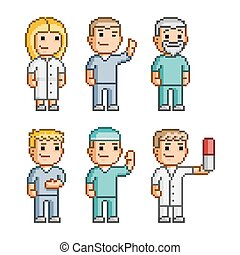 Pixel art collection doctors