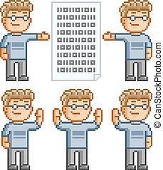 Pixel art collection of programmers
