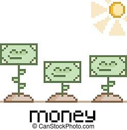 Pixel art funny money