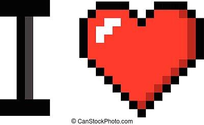 vector pixel art message love you for design eps vectors search clip art illustration. Black Bedroom Furniture Sets. Home Design Ideas