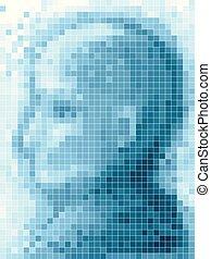 Pixel Art Man Illustration