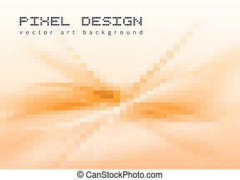 Pixel Art - Pixel art background. Vector mosaic design ...